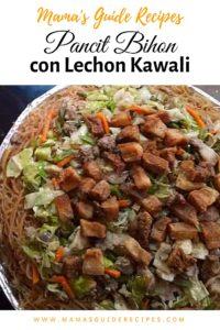 Pancit Bihon con Lechon Kawali
