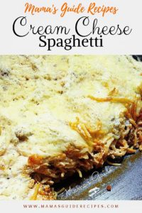 Cream Cheese Spaghetti