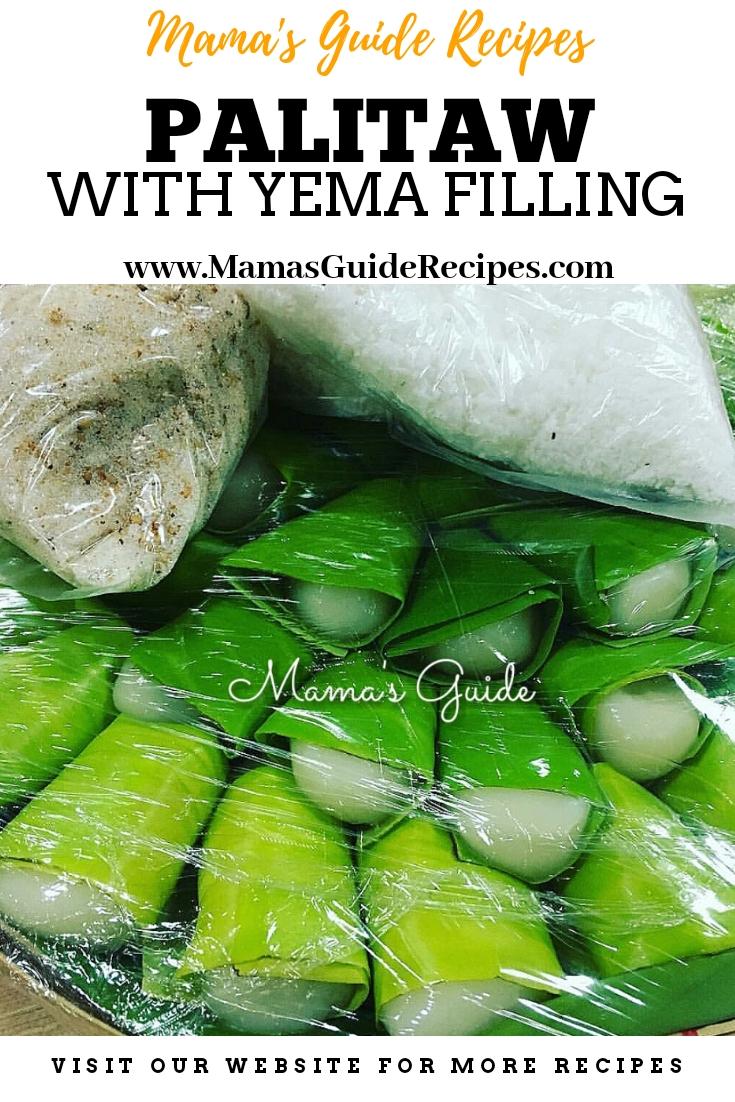 Palitaw with Yema Filling