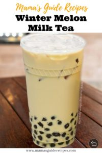 Winter Melon Milk Tea