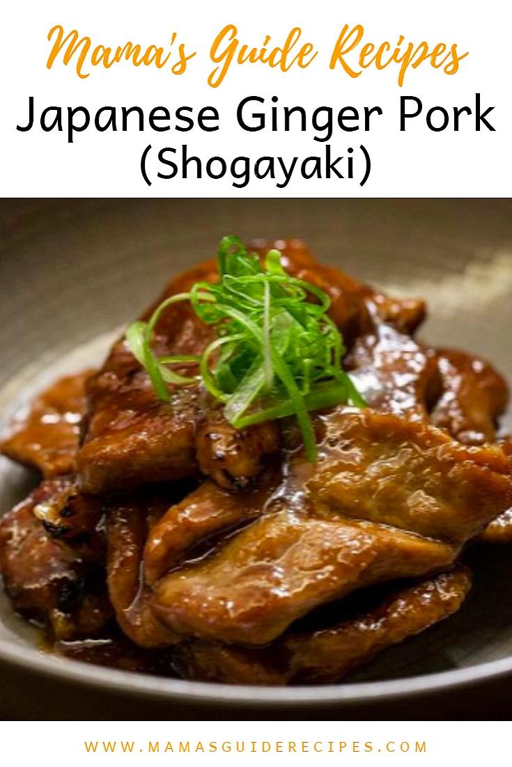 Japanese Ginger Pork(Shogayaki)
