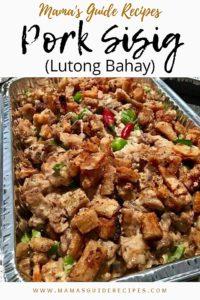 Pork Sisig (Lutong Bahay)