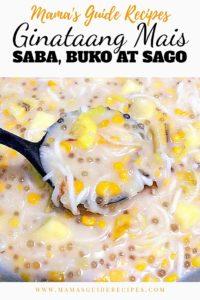 Ginataang Mais, Saba, Buko at Sago