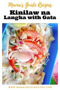 Kinilaw na langka with Gata