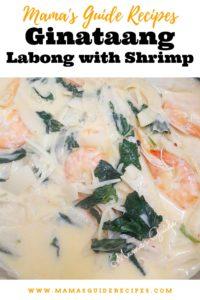 Ginataang Labong with Shrimp