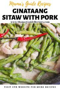 Ginataang Sitaw with Pork