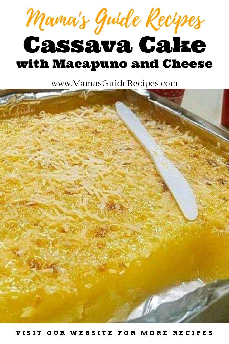 Cassava Cake with Macapuno and Cheese