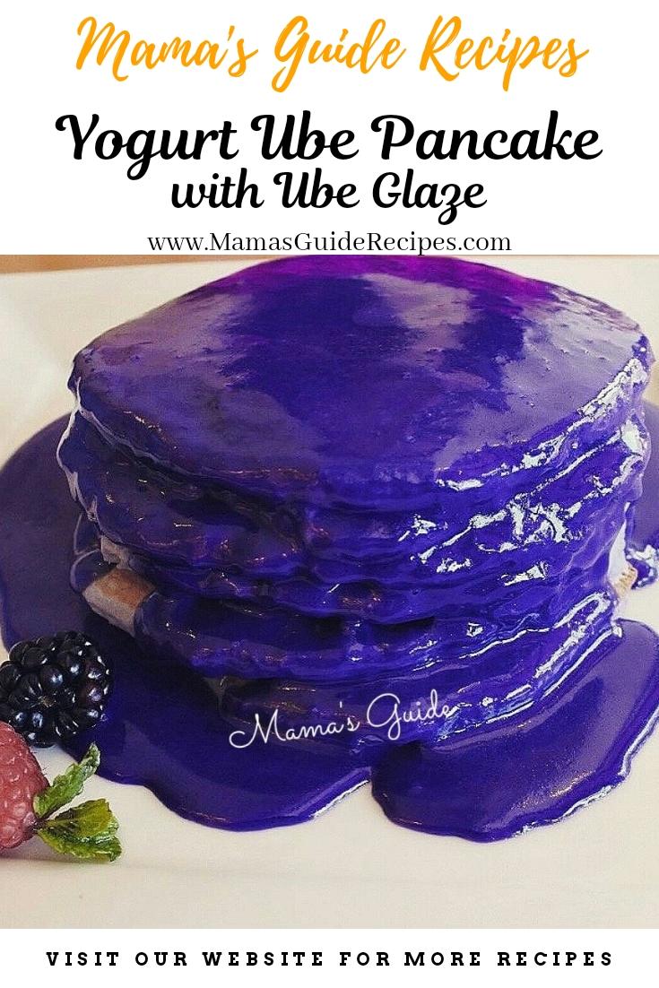 Yogurt Ube Pancake with Ube Glaze