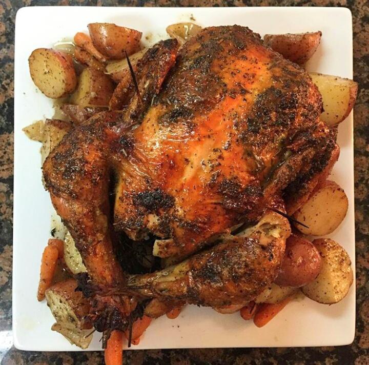 Herb-Roasted Chicken with SeasonedVegetables