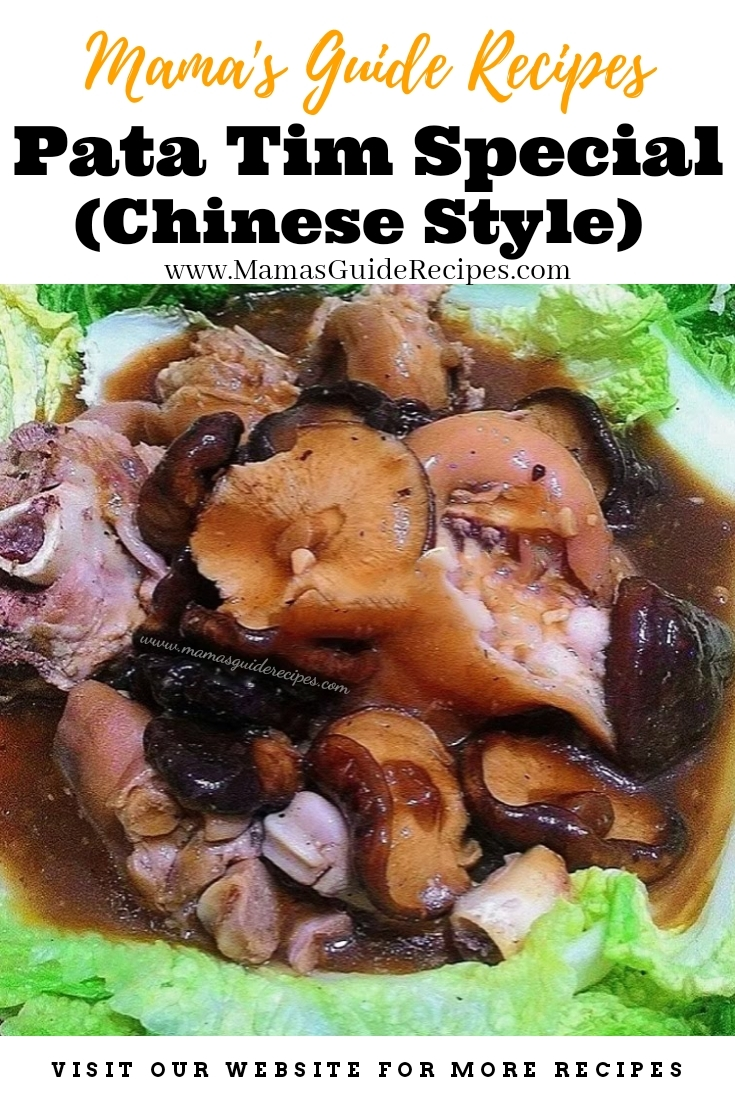 Pata Tim Special (Chinese Style)