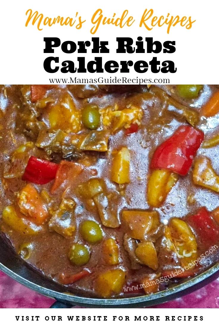 Pork Ribs Caldereta