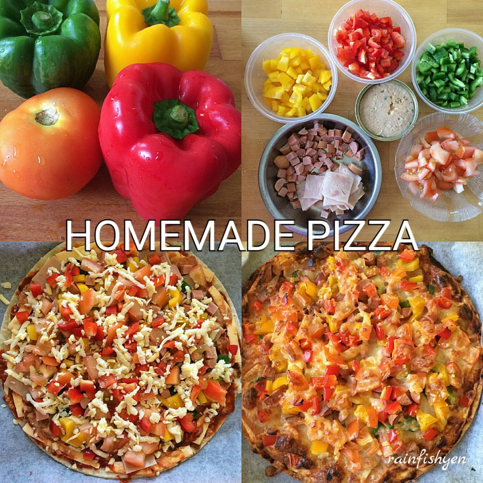 Homemade Ham and Vegetable Pizza