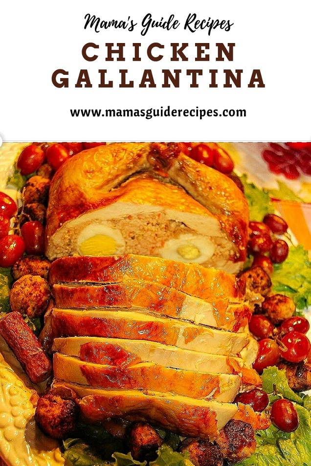 Chicken Gallantina, rellenong manok, relyenong manok,
