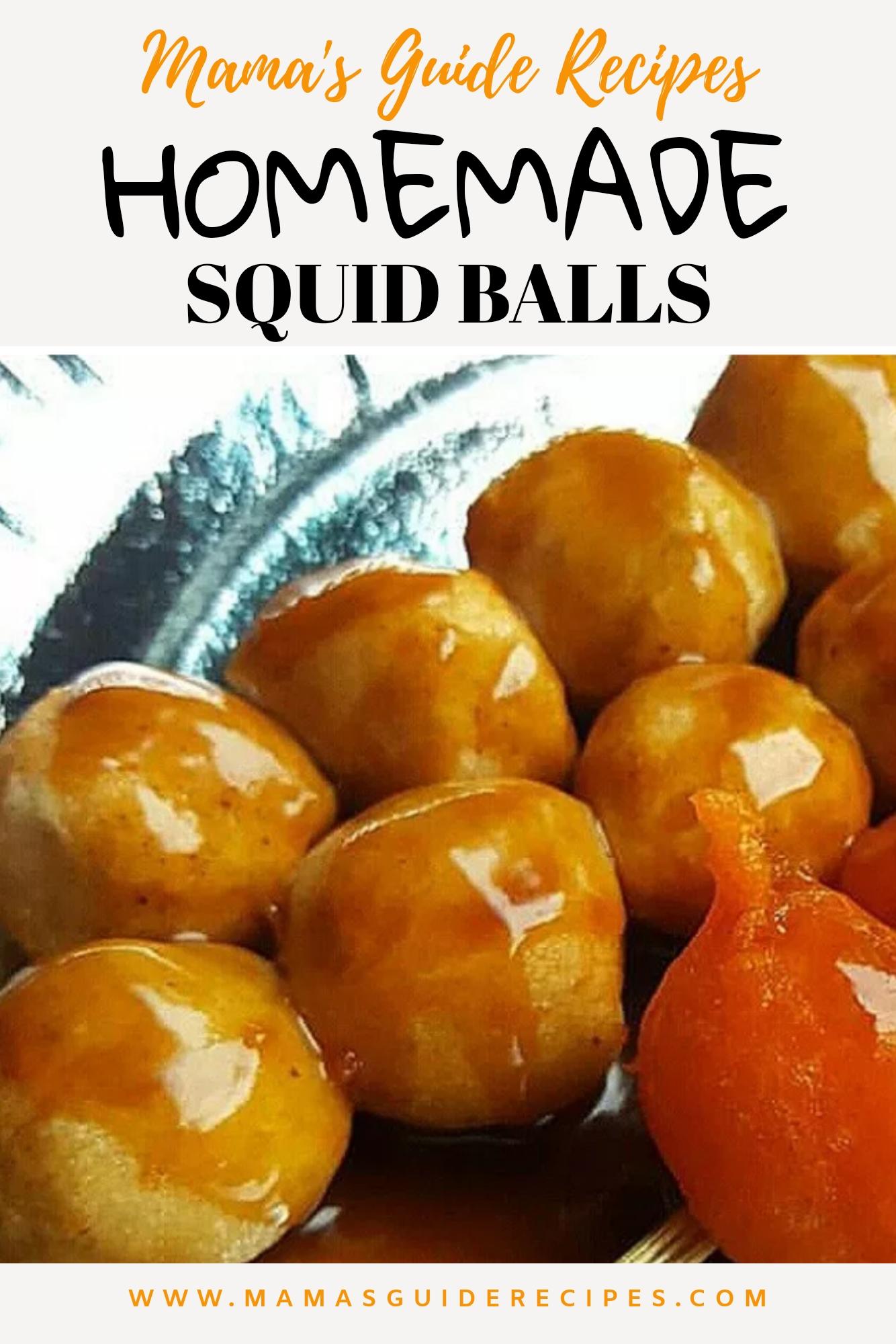 Homemade Squid Balls Recipe