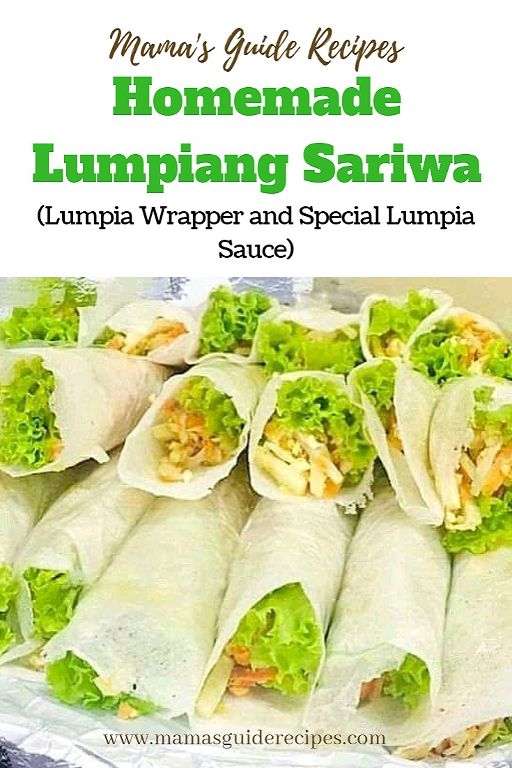 Homemade Lumpiang Sariwa, Lumpia Wrapper and Special Lumpia Sauce
