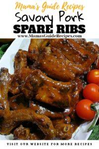 Savory Pork Spare Ribs