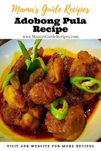 Adobong Pula Recipe