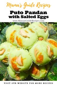 Puto Pandan with Salted Eggs