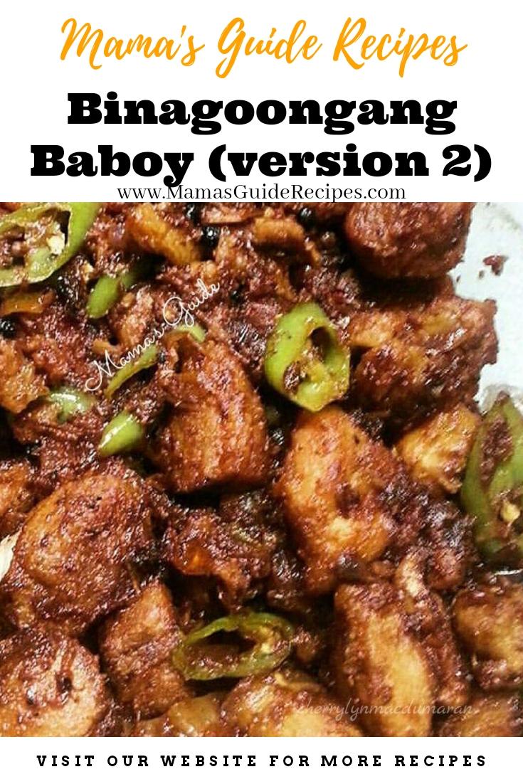 Binagoongang Baboy (version 2)
