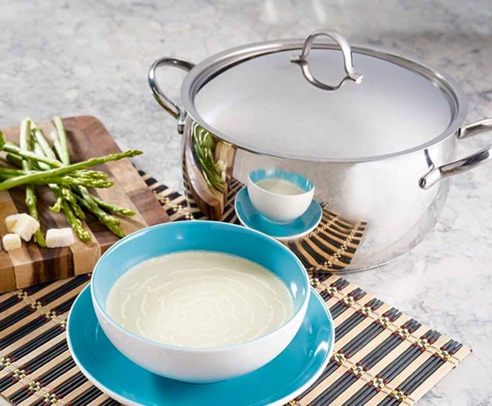 Cream of Asparagus and Broccoli