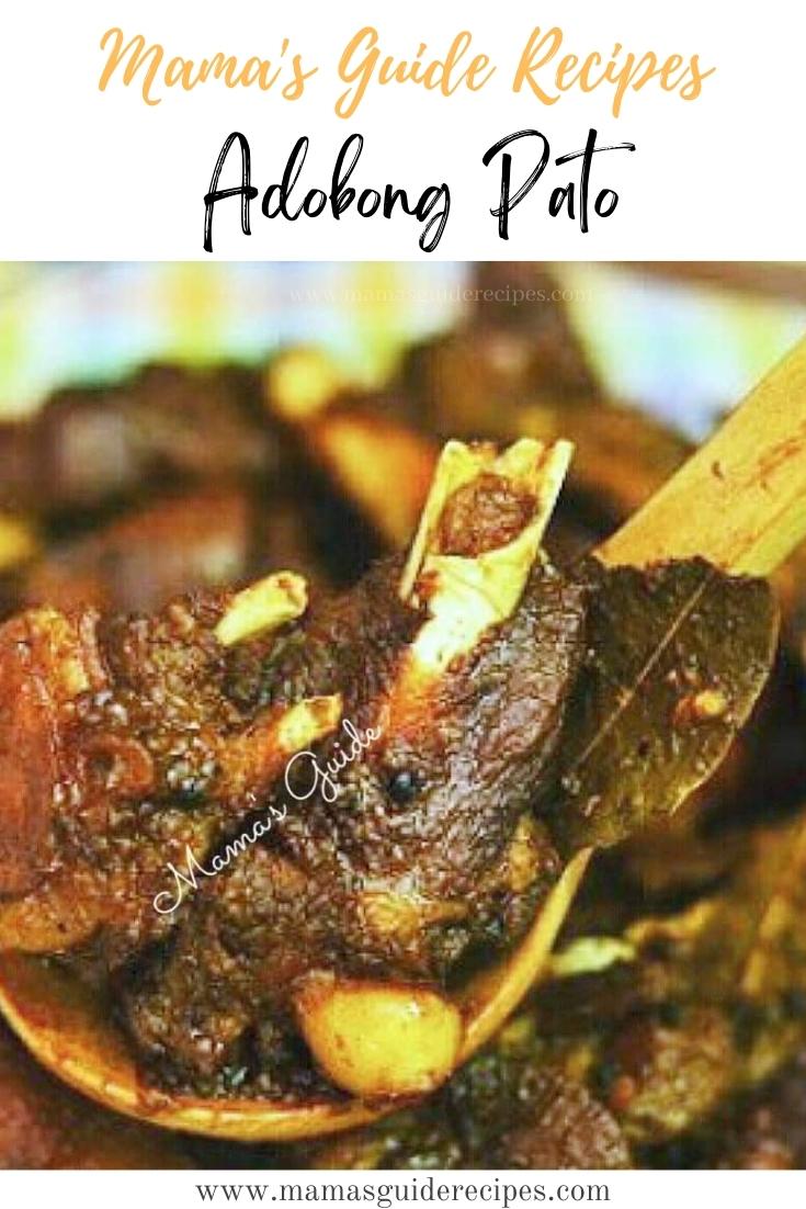 Adobong Pato Recipe