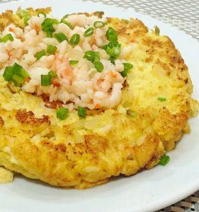 Shrimp and Tuna Omelette