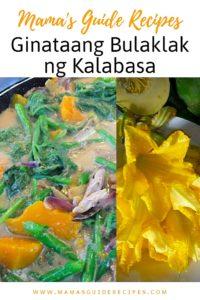 Ginataang Bulaklak ng Kalabasa