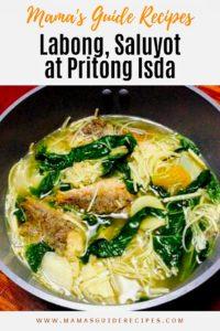 Saluyot, Labong at Pritong Isda