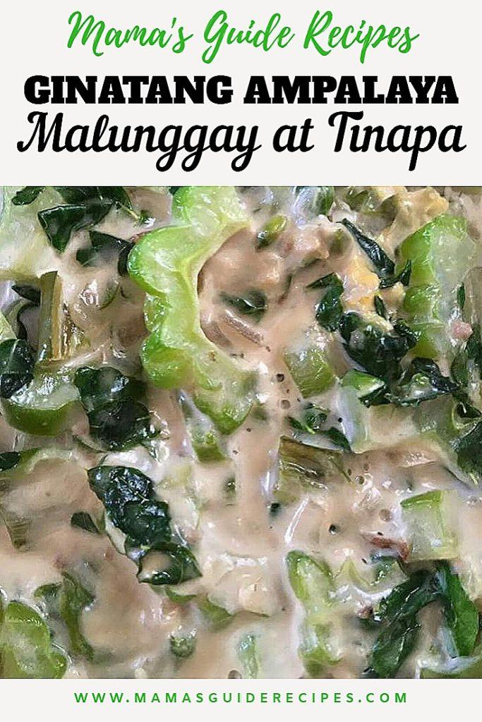 Ginataang Ampalaya, Malunggay at Tinapa