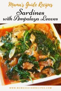 Sardines with Ampalaya Leaves