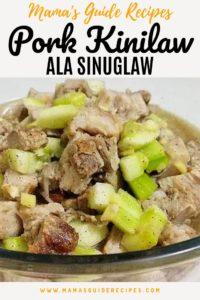 Pork Kinilaw ala Sinuglaw