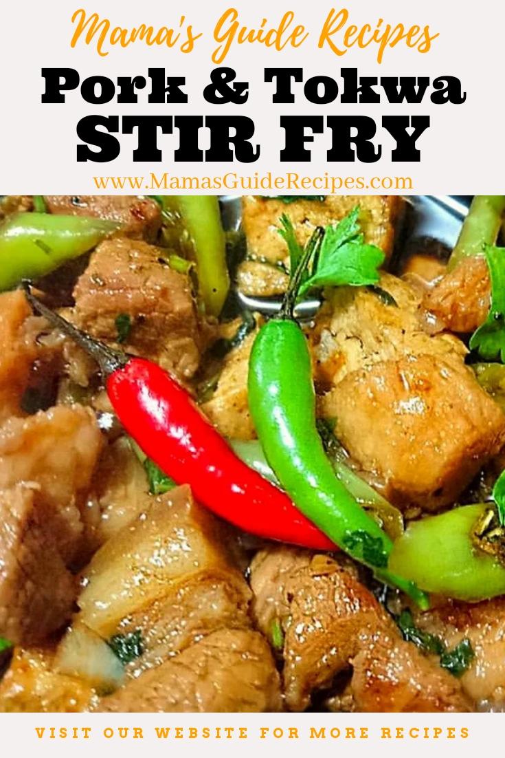 Pork & Tokwa Stir Fry