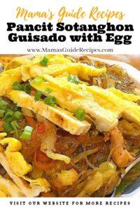 Pancit Sotanghon Guisado with Egg