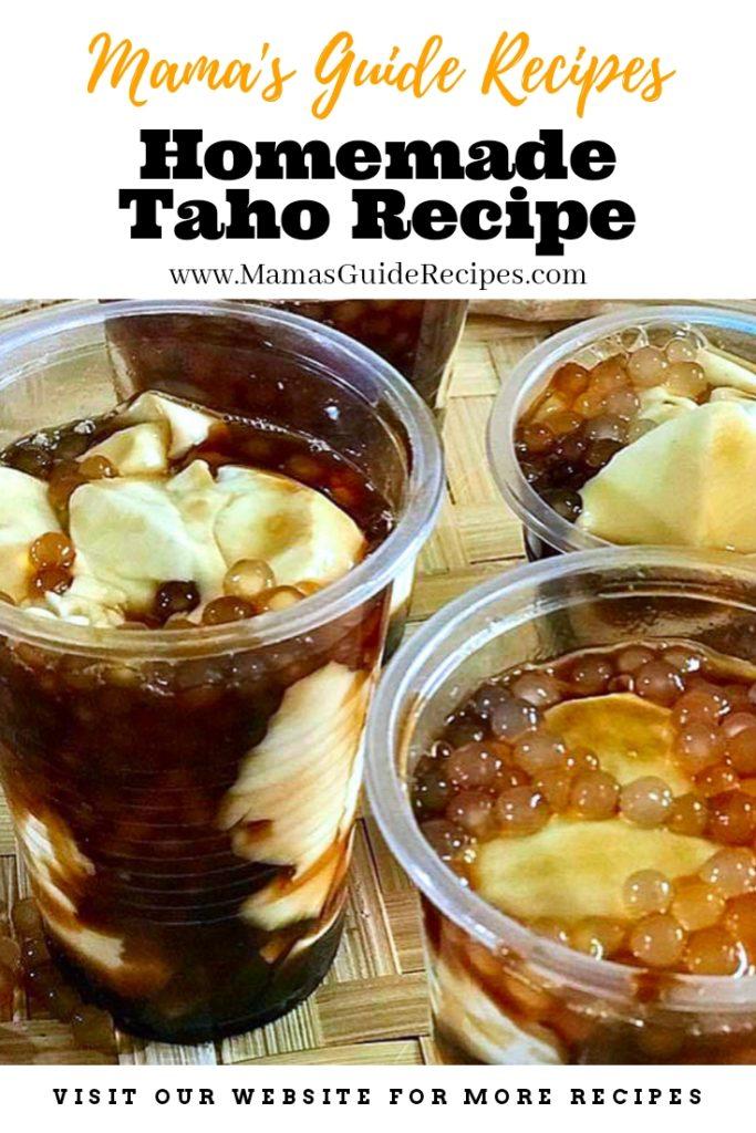 Homemade Taho Recipe