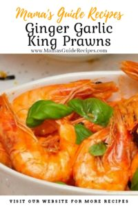 Ginger Garlic King Prawns