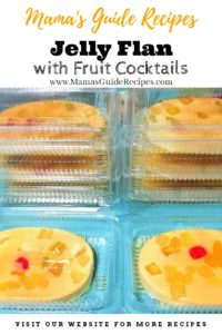 Jelly Flan with Fruit Cocktail