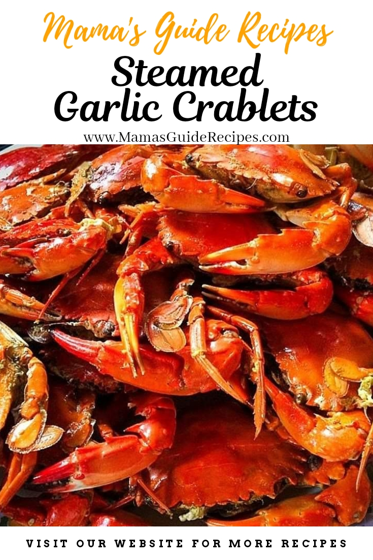 Steamed Garlic Crablets