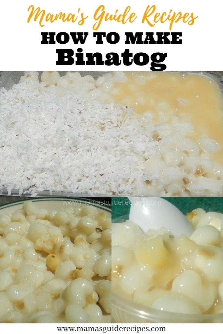 Binatog with Condensed milk