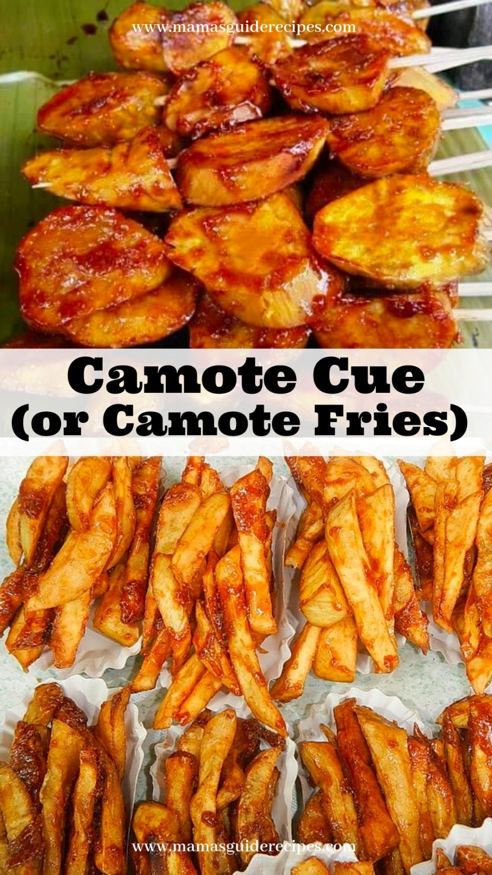 Camote Cue (or Camote Fries)