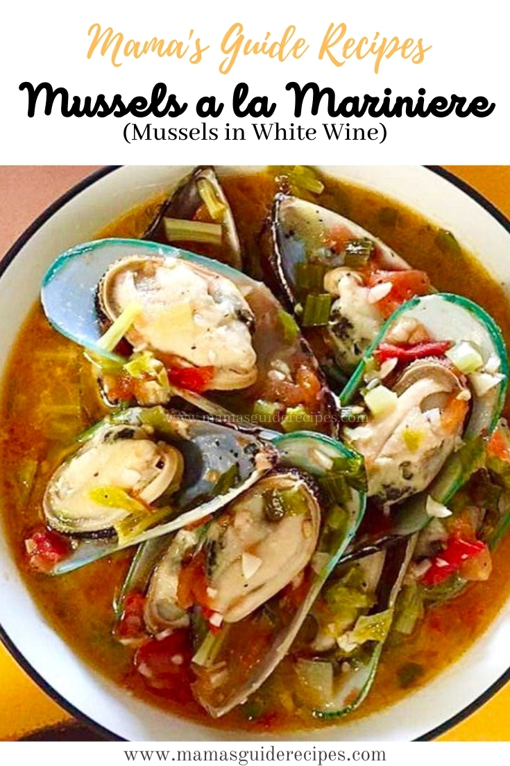 Mussels a la Mariniere (Mussels in White Wine)