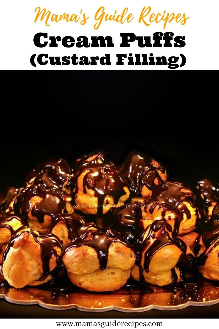 Cream Puffs (with Custard Filling)