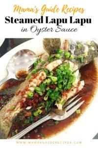 Steamed Lapu Lapu in Oyster Sauce