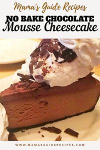 No Bake Chocolate Mousse Cheesecake Recipe Photo