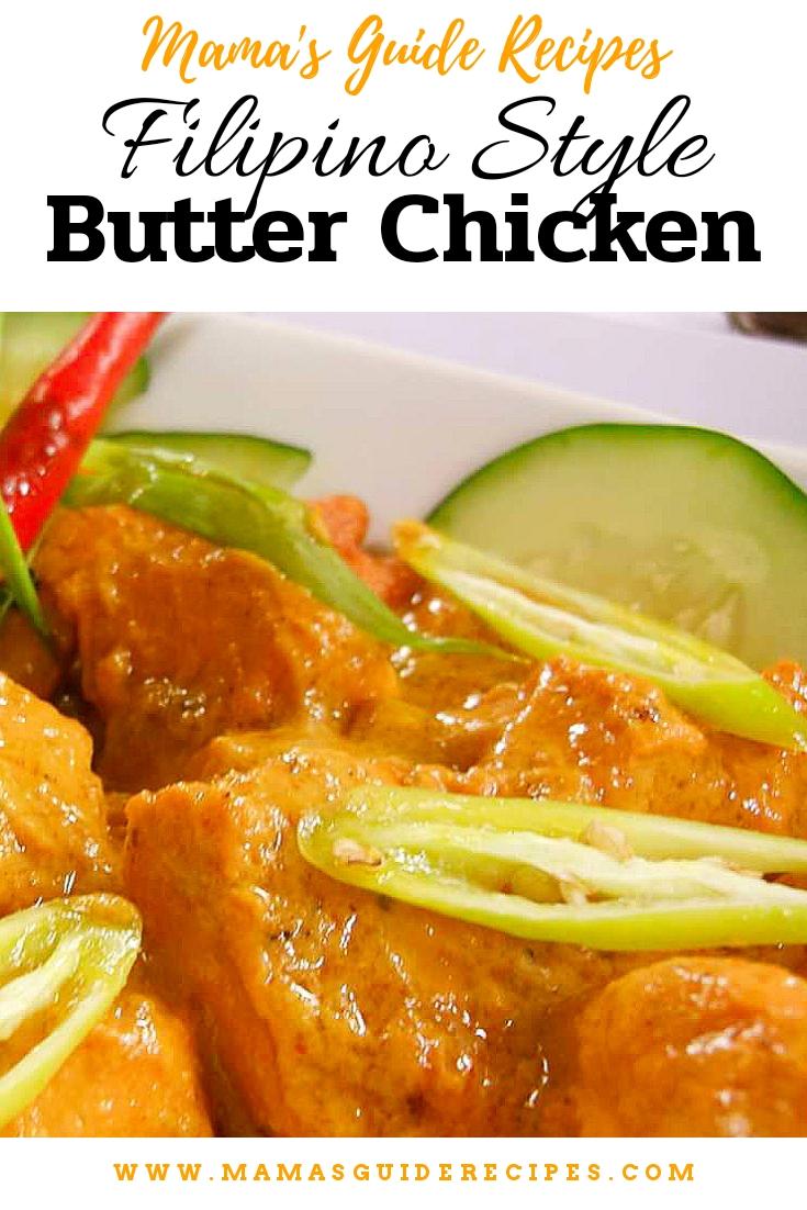 Filipino Style Butter Chicken