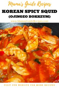 Korean Spicy Squid