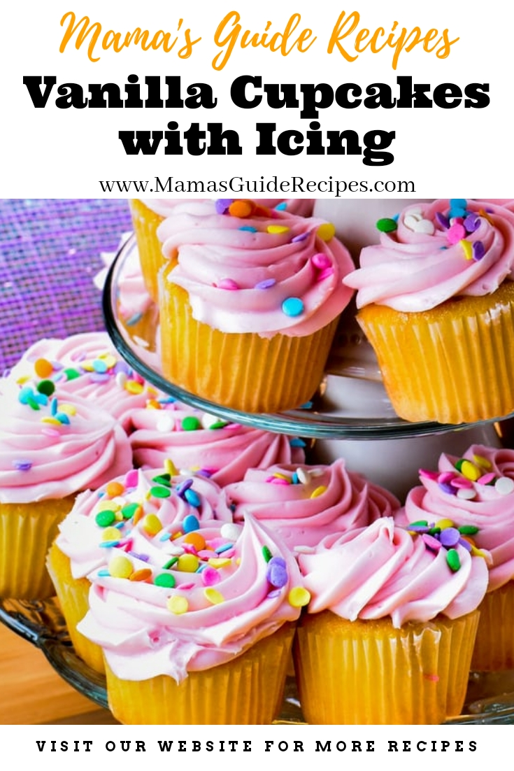Vanilla Cupcakes with Icing