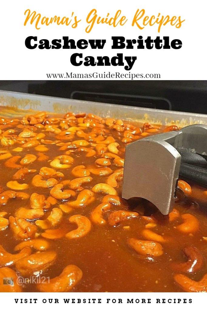 Cashew Brittle Candy