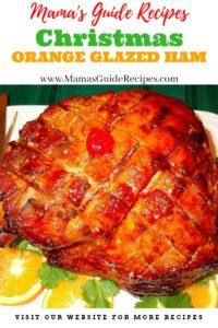 Christmas Orange Glazed Ham
