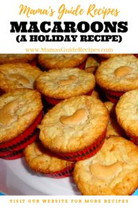 Macaroons (A Holiday Recipe)