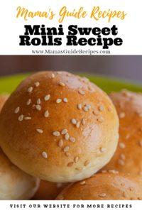 Mini Sweet Rolls Recipe
